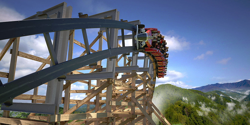 Lightning Rod Rollercoaster at Dollywood RoadGuides.com